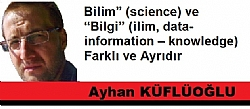Bilim� (science) ve �Bilgi� (ilim, data � information � knowledge) Farkl� ve Ayr�d�r